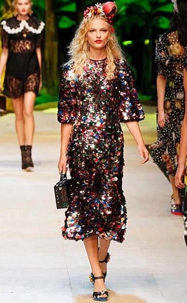 Dolce e Gabbana look metallico
